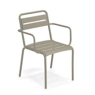 4 Stück • Emu Star Gartenstühle • Outdoor Armlehnstuhl 58 cm • Stahl, beschichtet