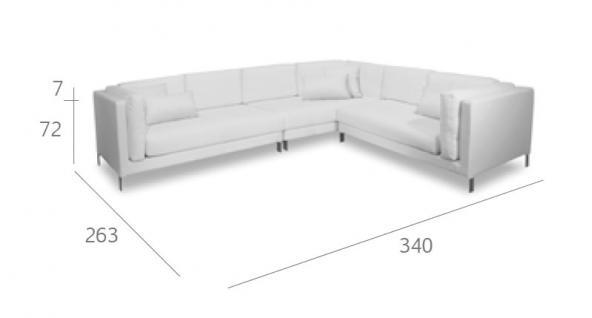 Expormim Slim Loungesofa 340 × 263 cm
