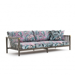 Versace Home Outdoor Jungle Loungesofa 3-Sitzer inkl. Sitz- und Rückenkissen