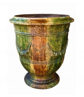 French Pottery Terrakotta Vase Roy Soleil 80 oder 110 cm