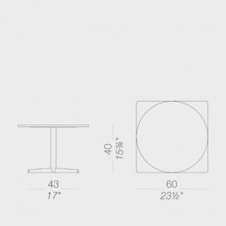 Lapalma Auki Loungetisch / Kaffeetisch quadratisch 60 x 60 cm / weiß oder schwarz - Vorschau 2