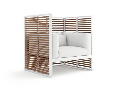 DNA Teakholz Normando Gartensessel / Loungesessel 105 × 88 cm von GANDIA BLASCO