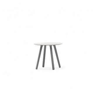 Varaschin Emma Beistelltisch Ø 50 cm • Aluminiumbeine • HPL bzw. Keramikplatte