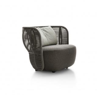 B&B Italia Bay kleiner Sessel • Sitzpolster aus Polyurethanschaum