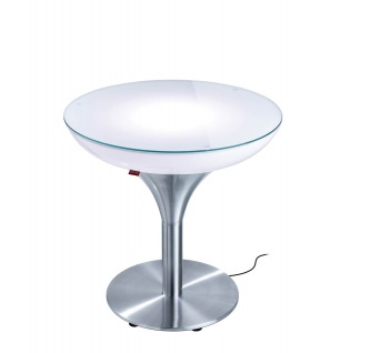 Moree Beistelltisch Lounge M Outdoor H55 cm inkl. Glasplatte Ø 60 cm