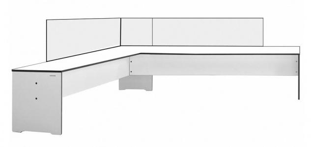 conmoto Riva Gartenbank mit Rückenlehne • Outdoor Eckbank 216 × 194 cm