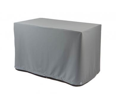 Tischhaube eckig mit 70 cm Abhang und Ösen im Saum, Plattenlänge 180 cm