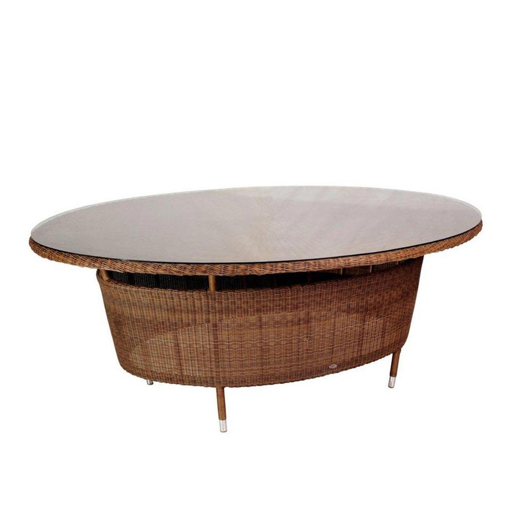 Alexander Rose San Marino Esstisch Oval 200 155 Cm Mit Glasplatte