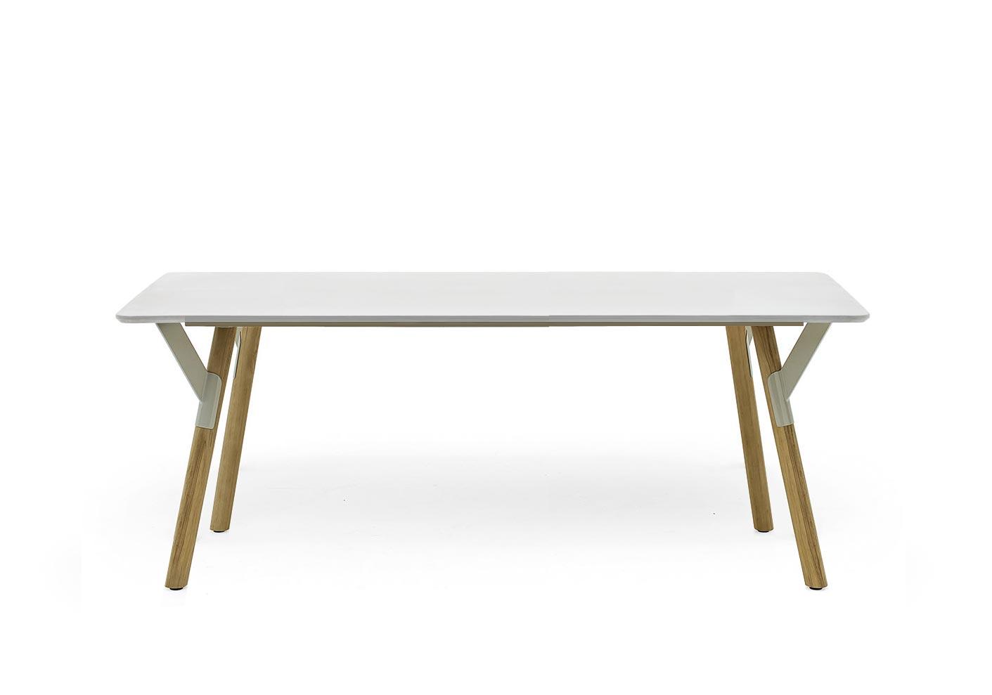 Varaschin Link Gartentisch Mit Teakholzbeinen 200 Cm Konfigurierbar