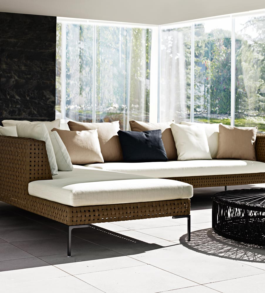 B&B Italia Charles Outdoor Chaise Longue Element links 160 cm ...