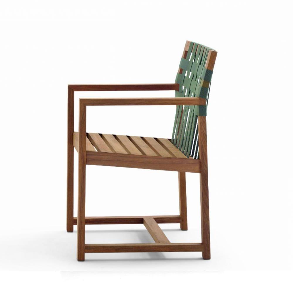 roda network armlehnstuhl 159 aus teakholz mit polyester gurt bespannung kaufen bei villa. Black Bedroom Furniture Sets. Home Design Ideas