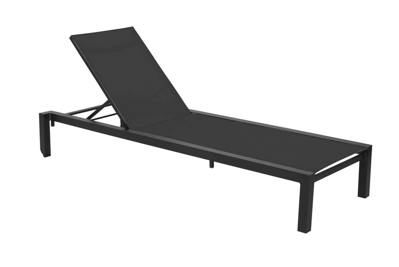 una stapelbare sonnenliege alu synthetikgewebe von calma. Black Bedroom Furniture Sets. Home Design Ideas