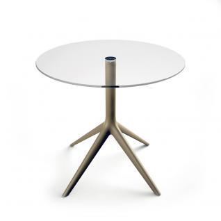 Vondom Mari-Sol Esstisch mit ESG Glas Tischplatte Ø79/89/100 oder 69×69/79×79/89×89 cm