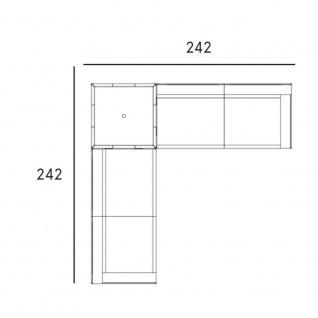 Fast New Joint Lounge-Sofa-Garnitur 242 x 242 cm: 1 x Loungetisch und 2 x 2-Sitzer-Sofa