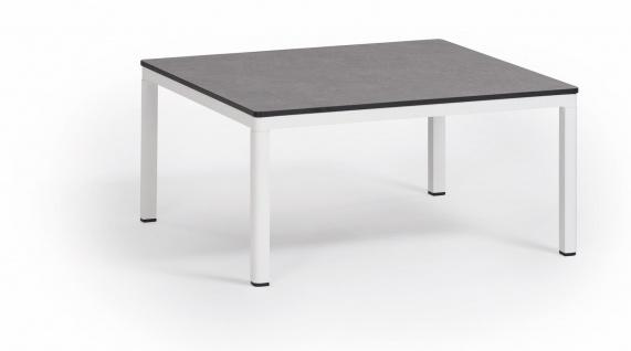 Weishäupl Minu Beistelltisch 77 x 77 cm • Teak- oder HPL-Tischplatte