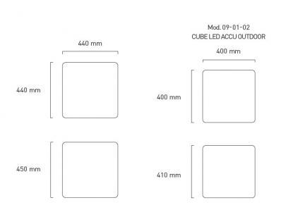 Moree Beistelltisch Cube Outdoor LED (Multicolour/ E27) - Vorschau 2