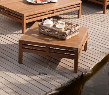 Herrenhaus Cubic Nature Lounge Beistelltisch 80 cm