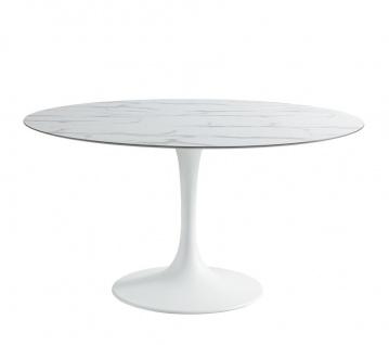Sifas Korol Gartentisch 170 x 110 cm • oval • inkl. Glas Tischplatte