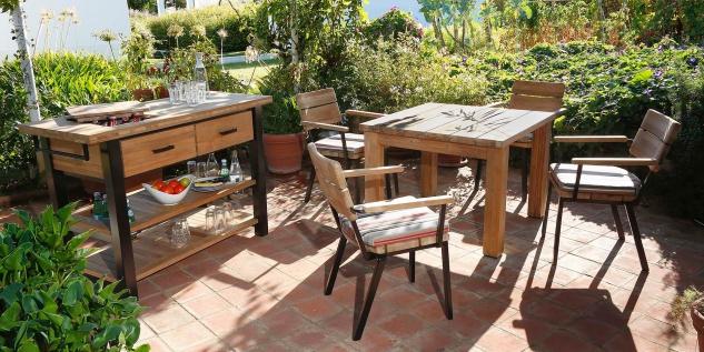 Gartentisch Titan von Barlow Tyrie 100 cm - Vorschau 4