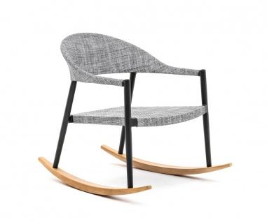 Varaschin Clever Schaukelstuhl mit VAR#TEX Bespannung • Loungesessel 68 cm