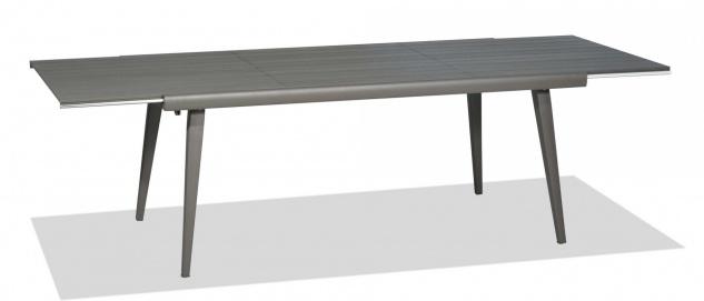 Samba Rio Gartentisch ausziehbar, Aluminiumgestell & Tischplatte 180/260 cm von Roberti