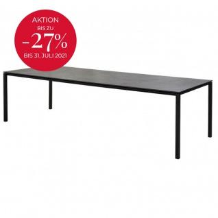 Cane-line Pure Gartentisch mit Aluminiumbeinen   Esstisch Pure 280 × 100 cm