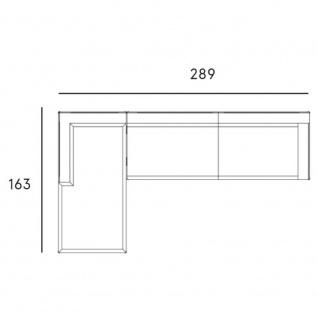 Fast New Joint Lounge-Sofa-Garnitur 289 cm: 1 x Recamiere und 1 x 3-Sitzer-Sofa mit Armlehne links