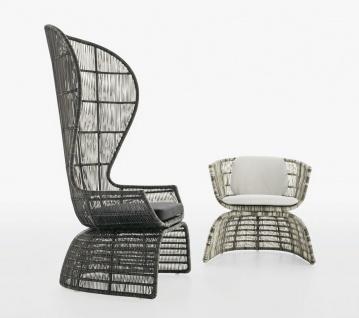 B&B Italia Crinoline Outdoor Sessel mit Polyethylenfasergeflecht 102 cm - Vorschau 3