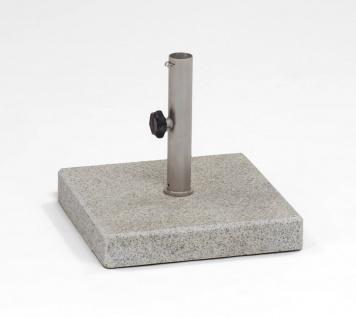 Weishäupl Schirmständer aus Granit, 30 kg, geflammt, quadratisch
