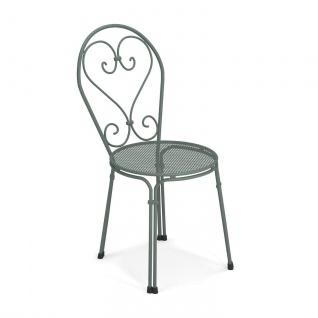 4 Stück • Emu Pigalle Gartenstühle • Outdoor Essstuhl 45 cm • Stahl, beschichtet