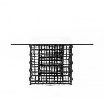 Gartentisch Yin & Yang 137 × 137 cm (brown/natural) von Kenneth Cobonpue