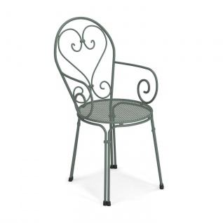 4 Stück • Emu Pigalle Gartenstühle • Outdoor Armlehnstuhl 50 cm • Stahl, beschichtet