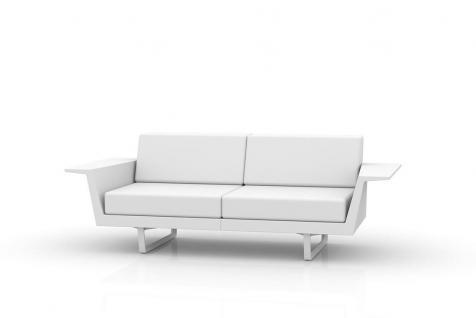 Vondom Flat Gartensofa 2-Sitzer • Loungesofa 204 × 88 cm