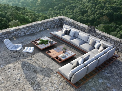 Royal Botania Lounge Set Mozaix 05 Mahagoni inkl. Kissenset Kategorie B - Vorschau 4