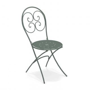 4 Stück • Emu Pigalle Gartenstühle • Outdoor Essstuhl 42 cm • Stahl, beschichtet