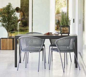 Cane-line Drop Gartentisch mit Aluminium-/Keramikplatte | Bistrotisch Ø 60 cm - Vorschau 3