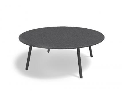 Roda Piper Loungetisch, mit Teak-, HPL, oder Steinplatte Ø 110 cm