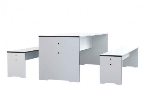 conmoto Riva Kids Gartentisch und 2 Bänke • Outdoor Esstisch Set 150 × 50 cm