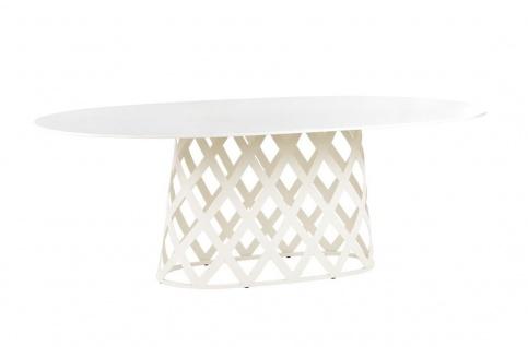 Point Dalmatia Gartentisch mit Keramikplatte • Esstisch oval, 222 cm