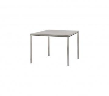 Cane-line Pure Gartentisch mit Aluminiumbeinen | Esstisch Pure 100 × 100 cm