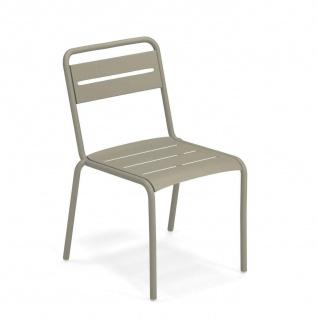 4 Stück • Emu Star Gartenstühle • Outdoor Essstuhl 54 cm • Stahl, beschichtet