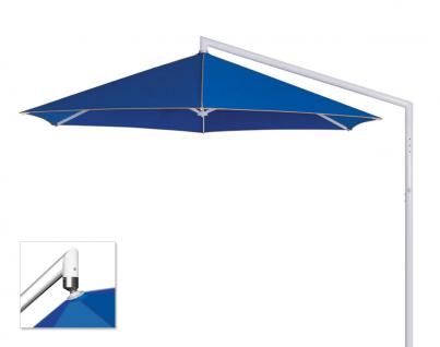 Sonnenschirm Rialto von May, sechseckig 400 cm, Typ RP, mit Volant
