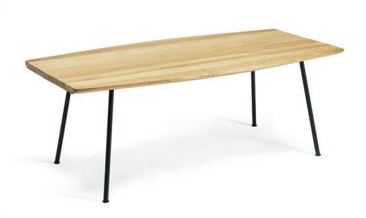Ethimo Agave Gartentisch aus Metall beschichtet & Teakholz Tischplatte 200 × 100 cm