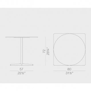 Lapalma Auki Gartentisch rund / Esstisch rund Ø 80 cm / weiß oder schwarz - Vorschau 2
