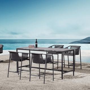 Fischer Möbel Suite High Dining Sessel exkl. Sitzauflage • Geflecht granite - Vorschau 3