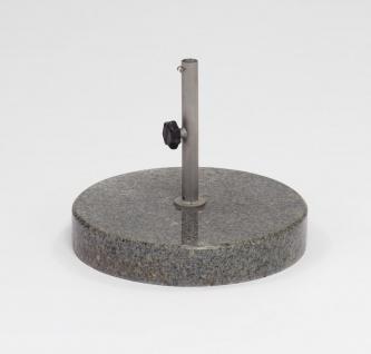 Weishäupl Schirmständer aus Granit, 35 kg, poliert, rund