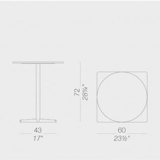 Lapalma Auki Gartentisch rund / Esstisch rund Ø 60 cm / weiß oder schwarz - Vorschau 2