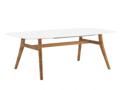 Royal Botania Zidiz Esstisch mit Kerrock® Tischplatte und Aluminium- oder Teakholzgestell 220 cm