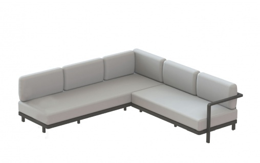 Royal Botania Red Label • Alura Lounge Ecksofa 04 • 250 × 245 cm rechts/links