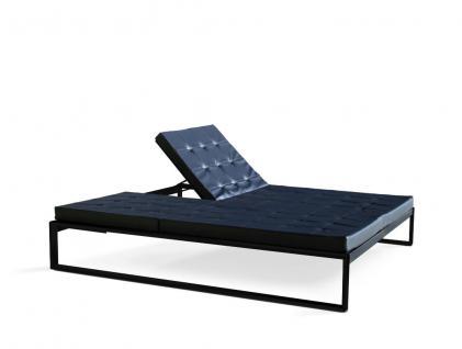 Doppel-Sonnenliege Siesta Lounge von FueraDentro, Edelstahlgestell pulverbeschichtet